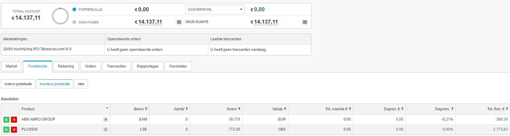 DEGIRO investing
